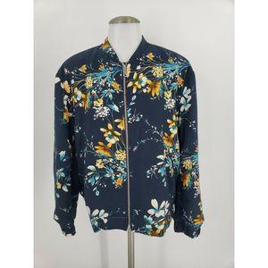 New Zara Trafaluc Outerwear Floral Bomber Jacket